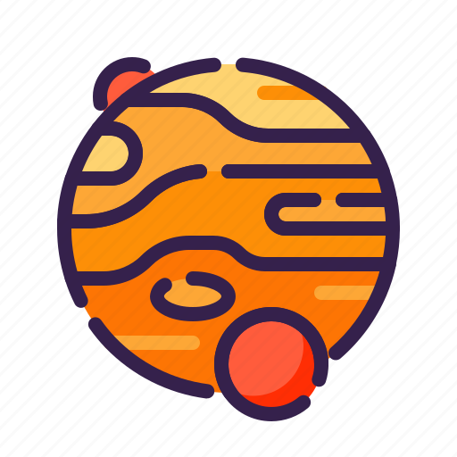 adventure, astronomy, jupiter, outer space, planet, space, star icon
