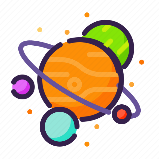 adventure, astronomy, galaxy, orbit, outer space, planets, space icon