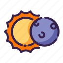 adventure, astronomy, covering, eclipse, forecast, outer space, space icon