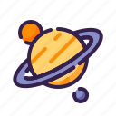 adventure, astronomy, outer space, planet, saturn, saturn ring, space icon