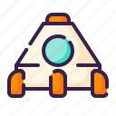 adventure, astronomy, outer space, rocket, space, space capsule, space ship icon