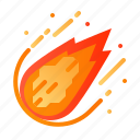 adventure, asteroid, astronomy, comet, meteor, outer space, space icon