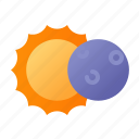 covering, space, eclipse, astronomy, outer space, forecast, adventure icon