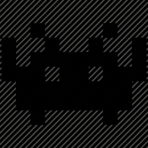 alien bitmap invader invaders space ufo icon. Black Bedroom Furniture Sets. Home Design Ideas