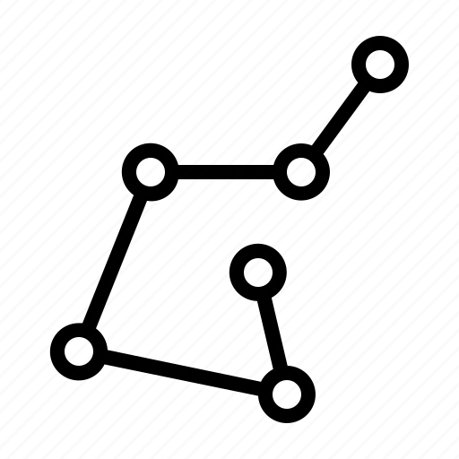connection, constellation, horoscope, network, nodes, sky, stars icon