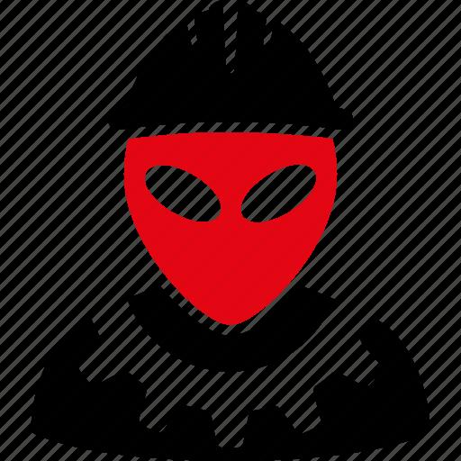 alien builder, engineer, fantasy, job, mechanic, monster, worker icon