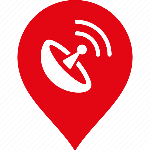 antenna, location, map marker, navigation, pin, radio, wifi icon