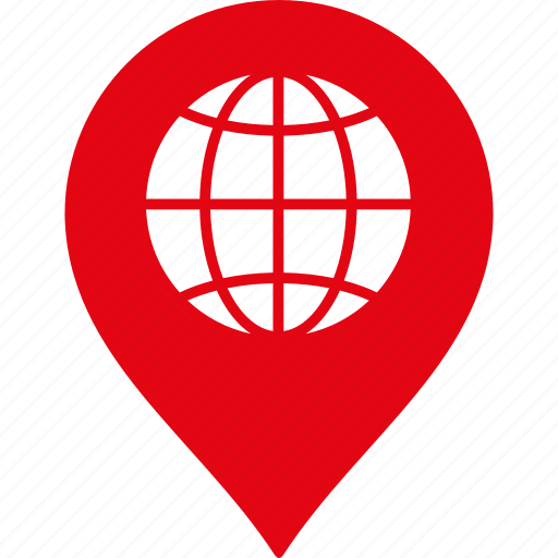 globe, gps, location, map marker, navigation, pin, web icon