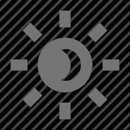 eclipse, lunar, moon, solar, sun icon