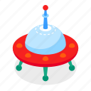 space, futuristic, flying saucer, ufo icon