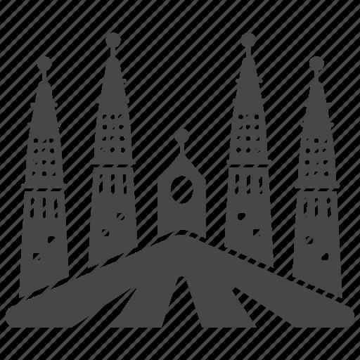 gaudi, la sagrada familia, landmark, spain, travel icon