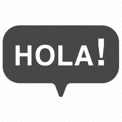 Bubble, greet, greeting, hello, hola, spain icon - Download on Iconfinder