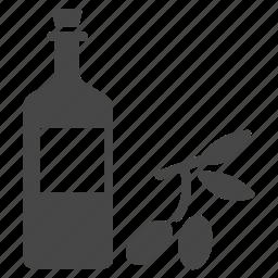 bottle, ingredient, oil, olive, olive oil, spain icon