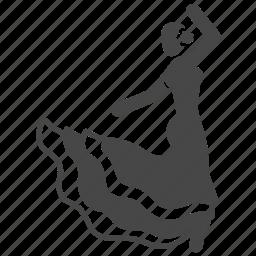 dance, dancer, flamenco dance, spain, spanish, traditional icon