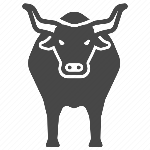 animal, bull, cattle, cow, ox, spain icon