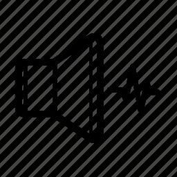 beat, music, noise, sound, soundwave, speaker, volume icon