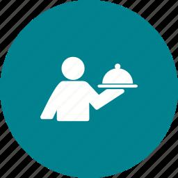 chef, dinner, food, restaurant, service, serving, waiter icon