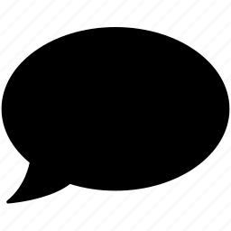 bubble, chat, message, oval, speech, speech bubble, thought bubble icon