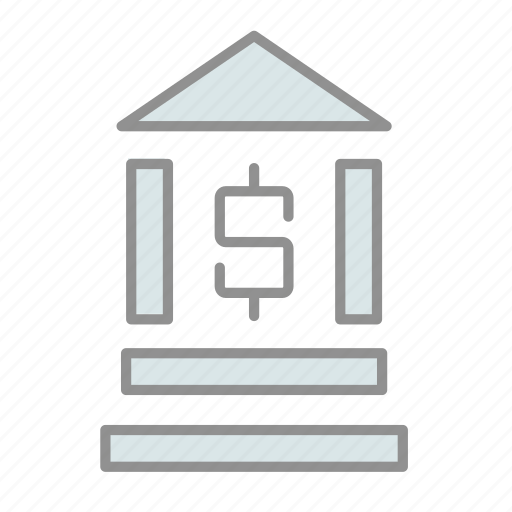 bank, banking, business, commerce, finance, financial institution, money icon