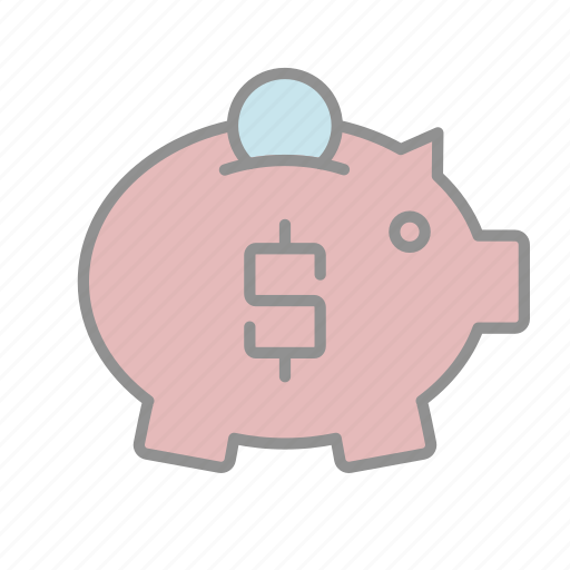 banking, business, commerce, finance, money, piggy bank, savings icon