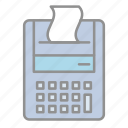 accounting, adding machine, banking, business, commerce, finance, money icon