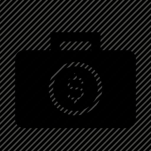 banking, briefcase, cash, dollar symbol, financial, money, savings account icon