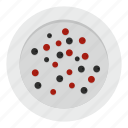 food, ingredient, pepper, peppercorn, plate, seed, spice icon