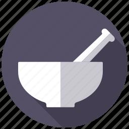 cooking, food, kitchen, mortar, pestle, seasoning, utensil icon