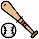 ball, baseball, bat, sport icon