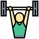 lifter, man, sport, weight icon