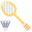 racket, badminton, shuttlecock, sport icon