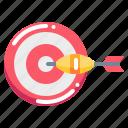 arrow, board, dart, sport icon