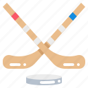 hockey, sport, stick, team icon