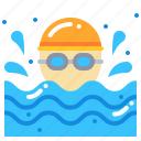 man, sport, swim, swimming icon