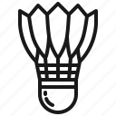 badminton, cock, shuttle, shuttlecock, sport