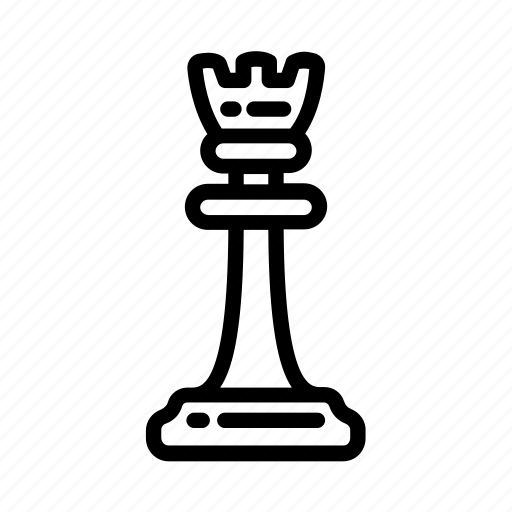 chess, chess piece, game, piece, rook, strategy icon