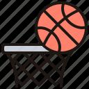 ball, basketball, hoop, slam, team icon