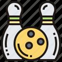 bowling, kegler, lane, pin, strike icon