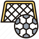 field, football, goal, kickoff, soccer icon