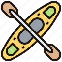 boat, canoe, float, kayaking, paddle icon