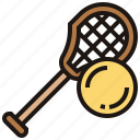 ball, field, lacrosse, stick, team icon