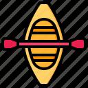 canoe, kayak, sport, game