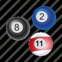 balls, billiar, ball, game