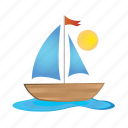 boat, sea, ship, travel