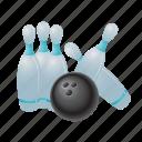 bowling, ball, game, sport