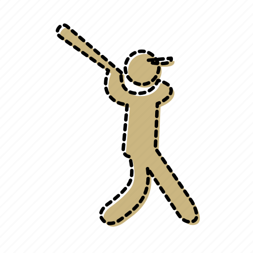 ball, baseball, bat, hit, player, posture, sport icon