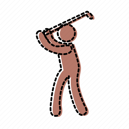 golf, hit, man, posture, sport, strike icon