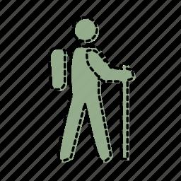 sport, trekking icon