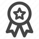 award, badge, madel, medal, prize, star, winner icon