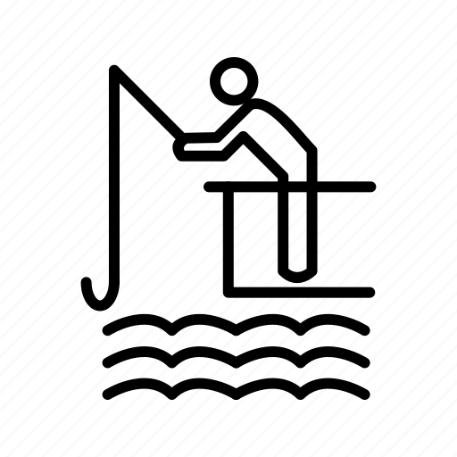 Fishing, rod, fish icon